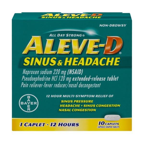 Aleve D Sinus & Headache 12 Hour Multi-Symptom Relief ...