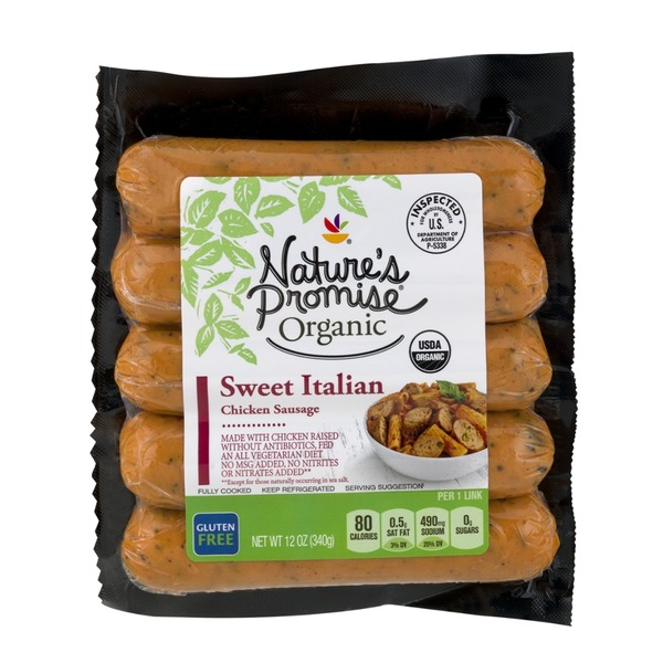 Nature39s Promise Organic Chicken Sausage Sweet Italian 12