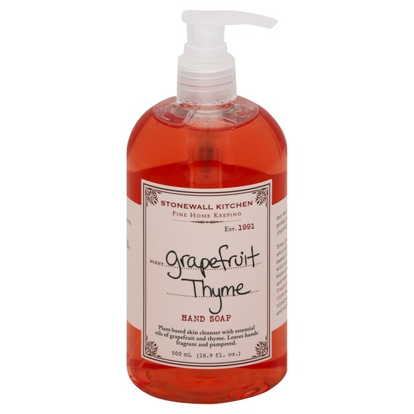 kitchen hand soap what kind of paint for cabinets stonewall grapefruit thyme scent from vons