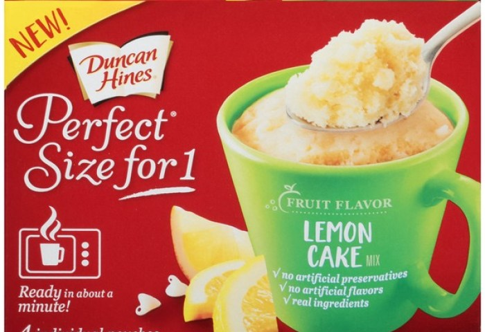 Duncan Hines Perfect Size Lemon Cake Mix 4 Each From Stater Bros