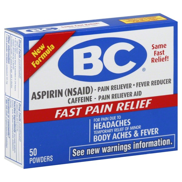 BC Pain Reliever/Fever Reducer Powders (50 ct) - Instacart