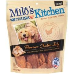 Milos Kitchen Metal Shelves Milo S Premium Chicken Jerky Dog Treats From Schnucks