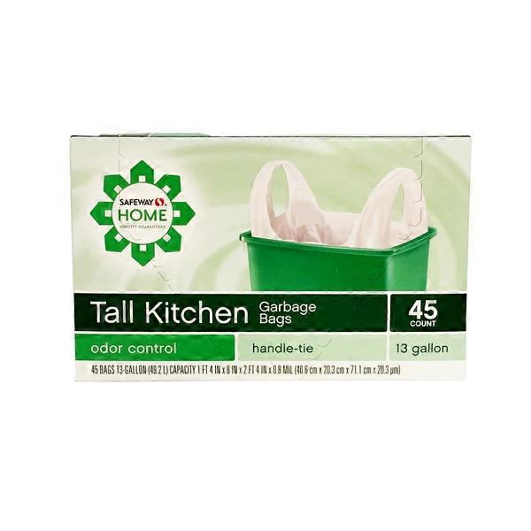 kitchen garbage bags worktops signature home 13 gallon handle from tom thumb