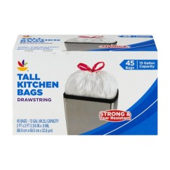 Tall Kitchen Bags Brand New Cost Sb Drawstring 45 Ct 0 From Stop Shop