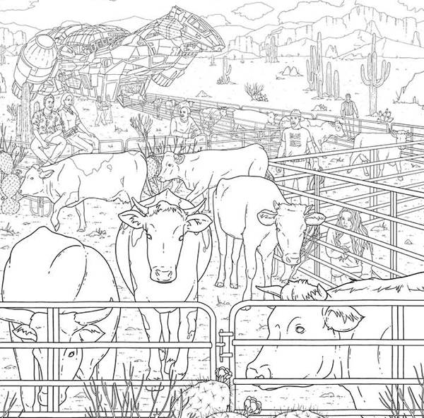 Serenity: Everything's Shiny Adult Coloring Book TPB