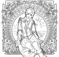 The Witcher Adult Coloring Book TPB :: Profile :: Dark ...