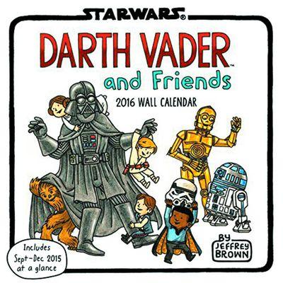 Darth Vader & Friends 2016 Wall Calendar @TFAW.com