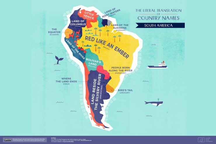 The Literal Translation of South American Country Names
