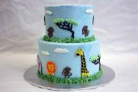 Jungle Animal Baby Shower - Around the World in 80 Cakes