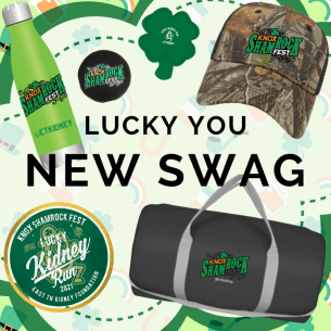 SWAG Options for 2021 Lucky Kidney Run, Knox Shamrock Fest