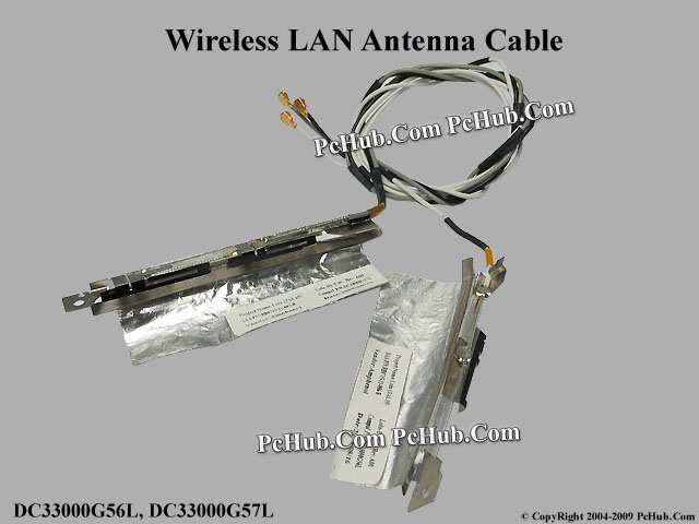 Dell Latitude E6400 Wireless Antenna Cable DC33000G56L