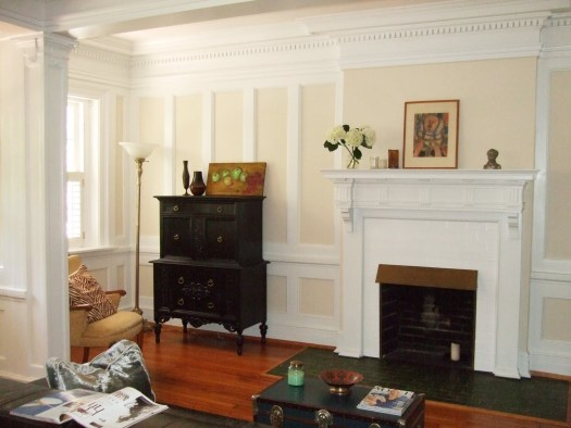 It S Especially Attractive With White Trim I Like Dove In This Living Room The Wood Floors Bring Out Yellow Undertones Paint Color