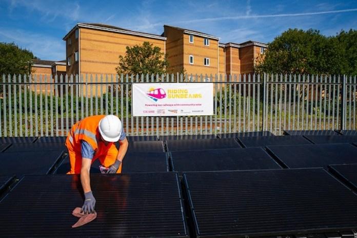 Солнечная установка подключена к железнодорожной линии в Олдершоте