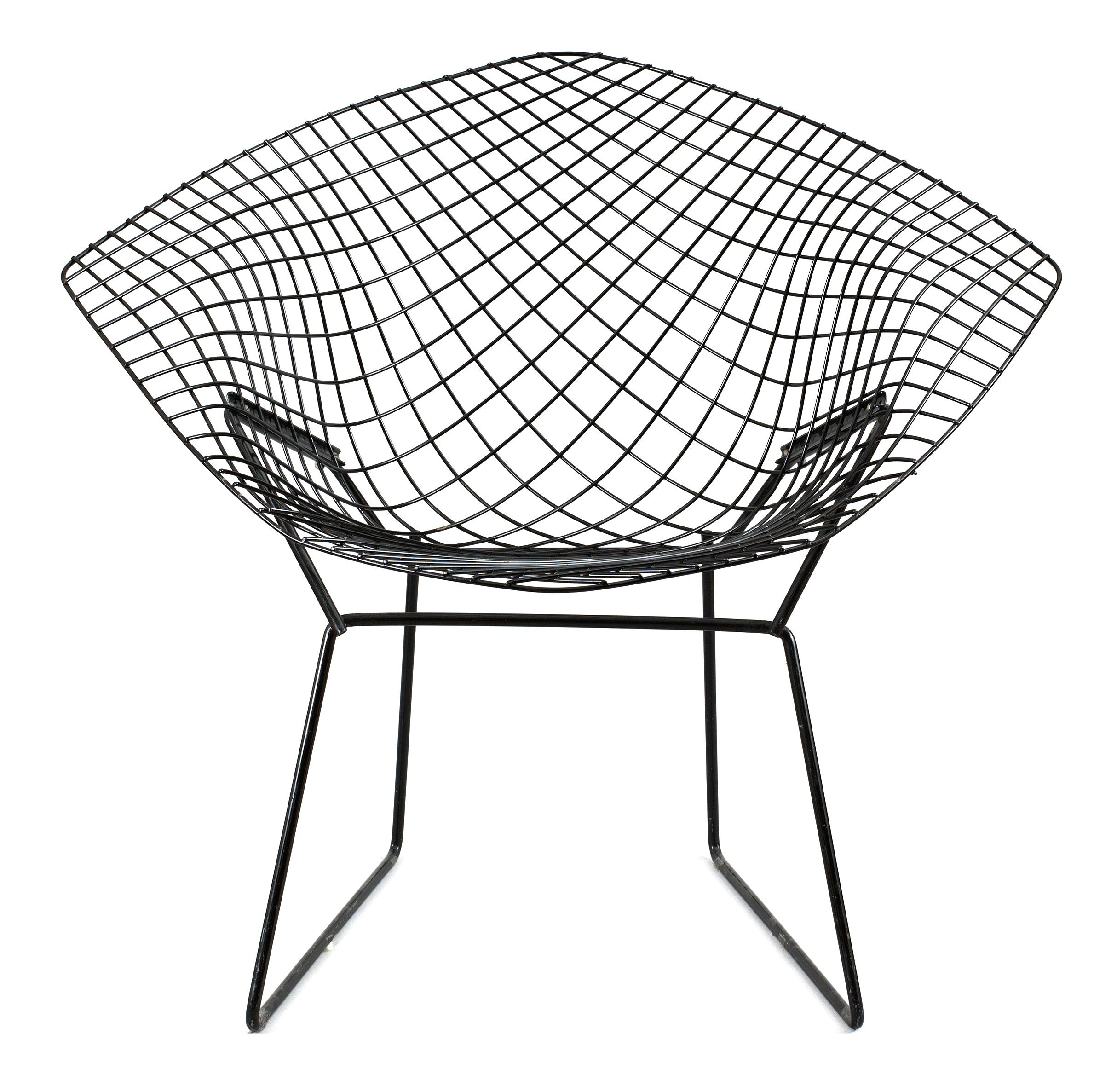 Harry Bertoia Chair A Harry Bertoia Black Metal Quotdiamond Chair Quot Bukowskis