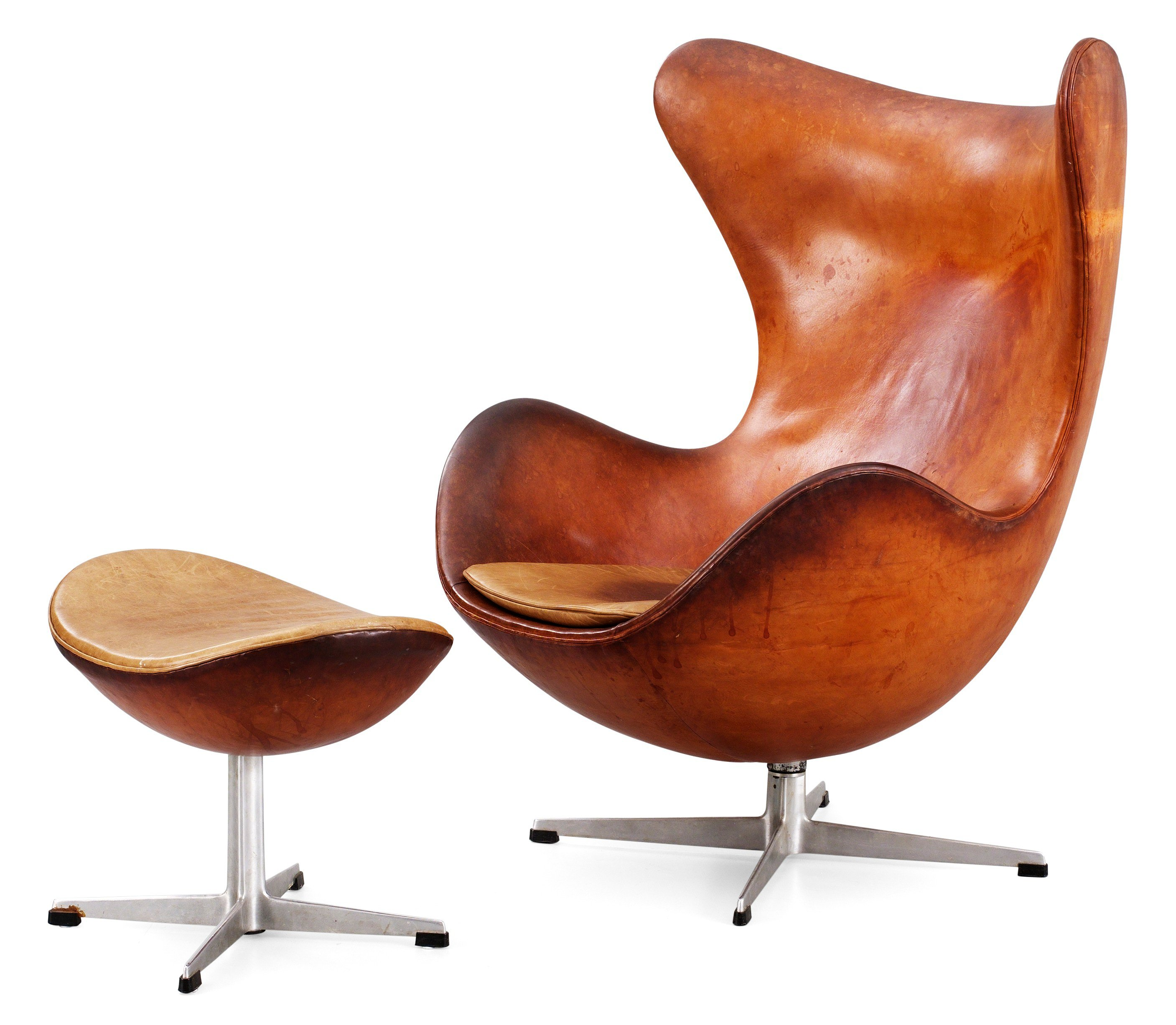 Arne Jacobsen Egg Chair An Arne Jacobsen Brown Leather Egg Chair With Ottoman By Fritz