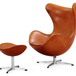 Jacobsen Egg Chair Leather Diy Dining Room Seat Covers An Arne Brown 39egg 39 And Ottoman