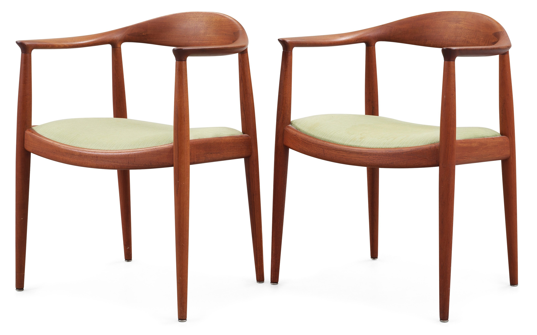the chair merits power a pair of hans j wegner by johannes hansen denmark