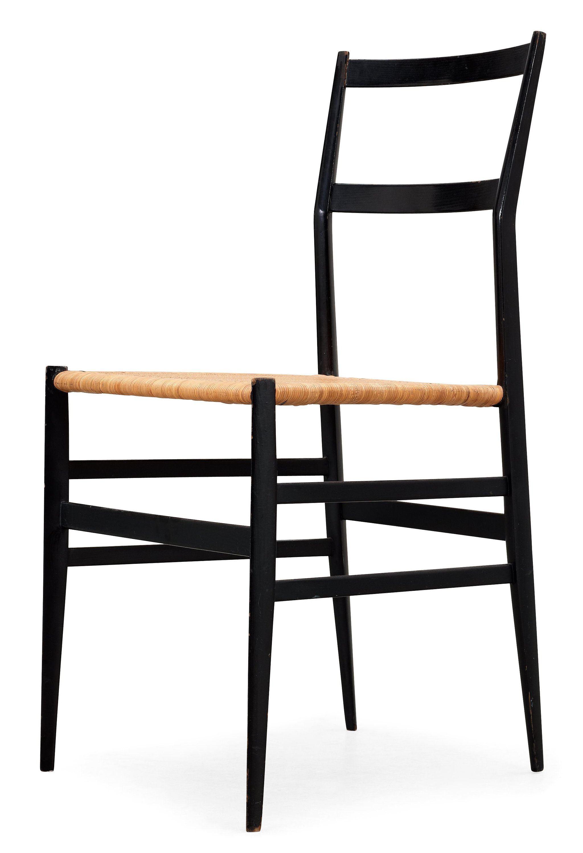 A Gio Ponti Superleggera chair Cassina Italy black