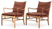 """OLE WANSCHER, karmstolar, ett par """"Colonial Chair, PJ 149 ..."""
