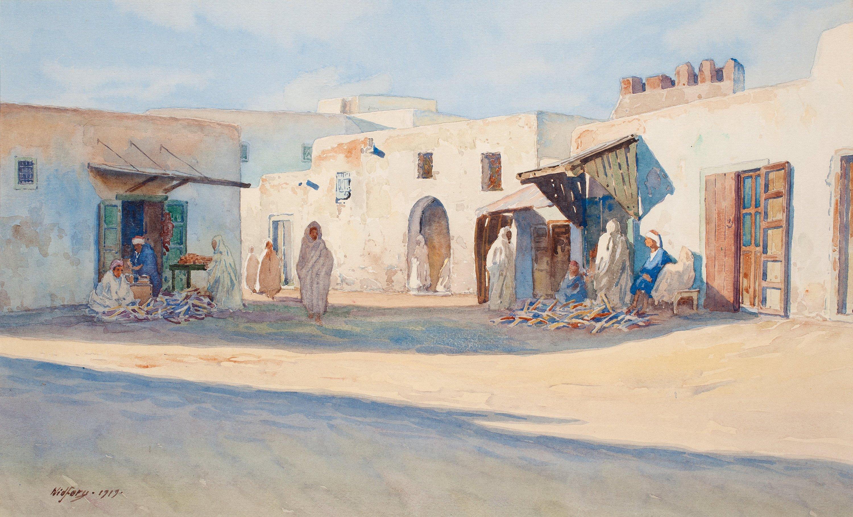 GUNNAR WIDFORSS Street Scene From Tunisia Bukowskis