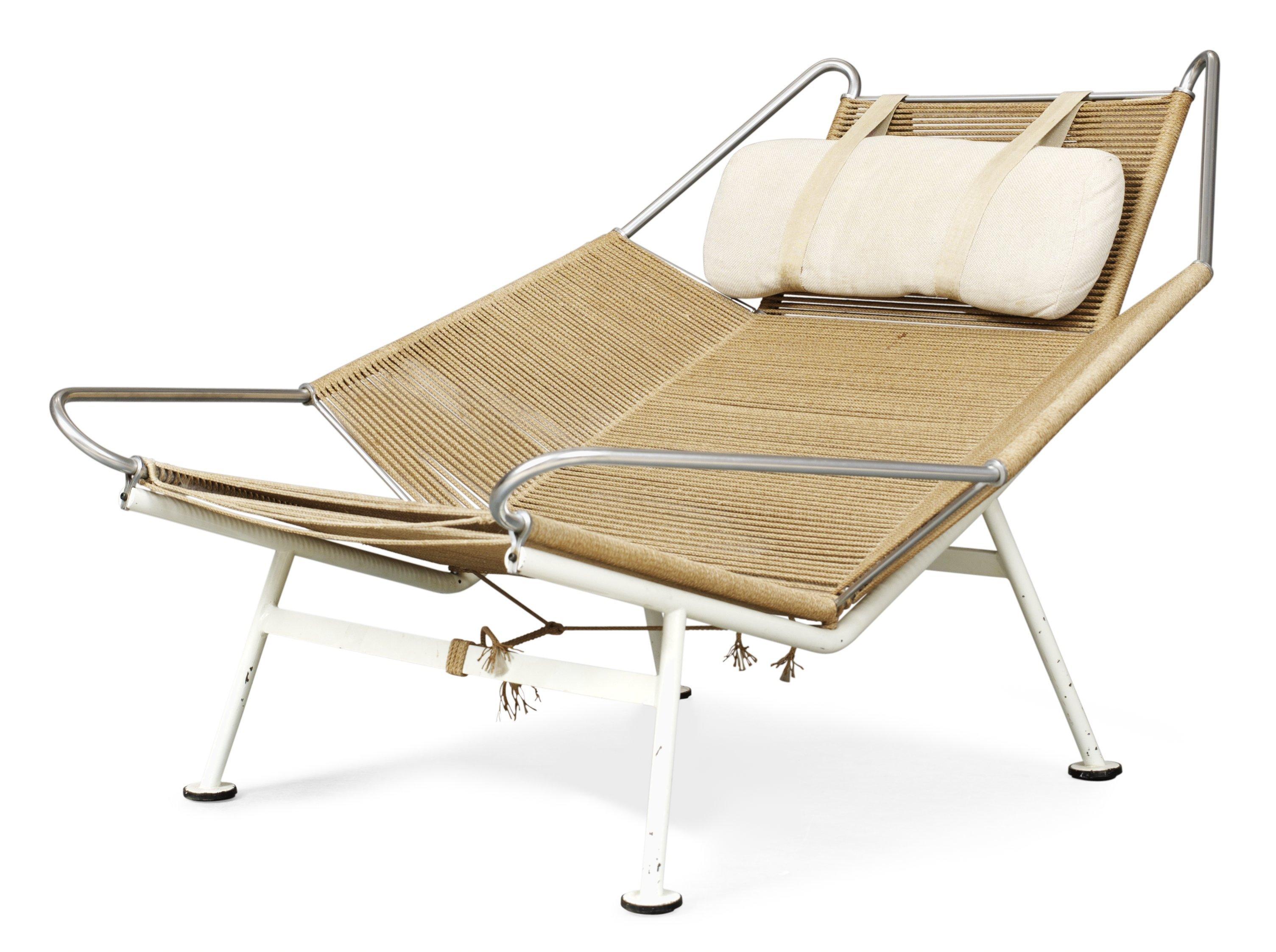 "A Hans J Wegner lounge chair ""Flag Halyard"", by Getama"