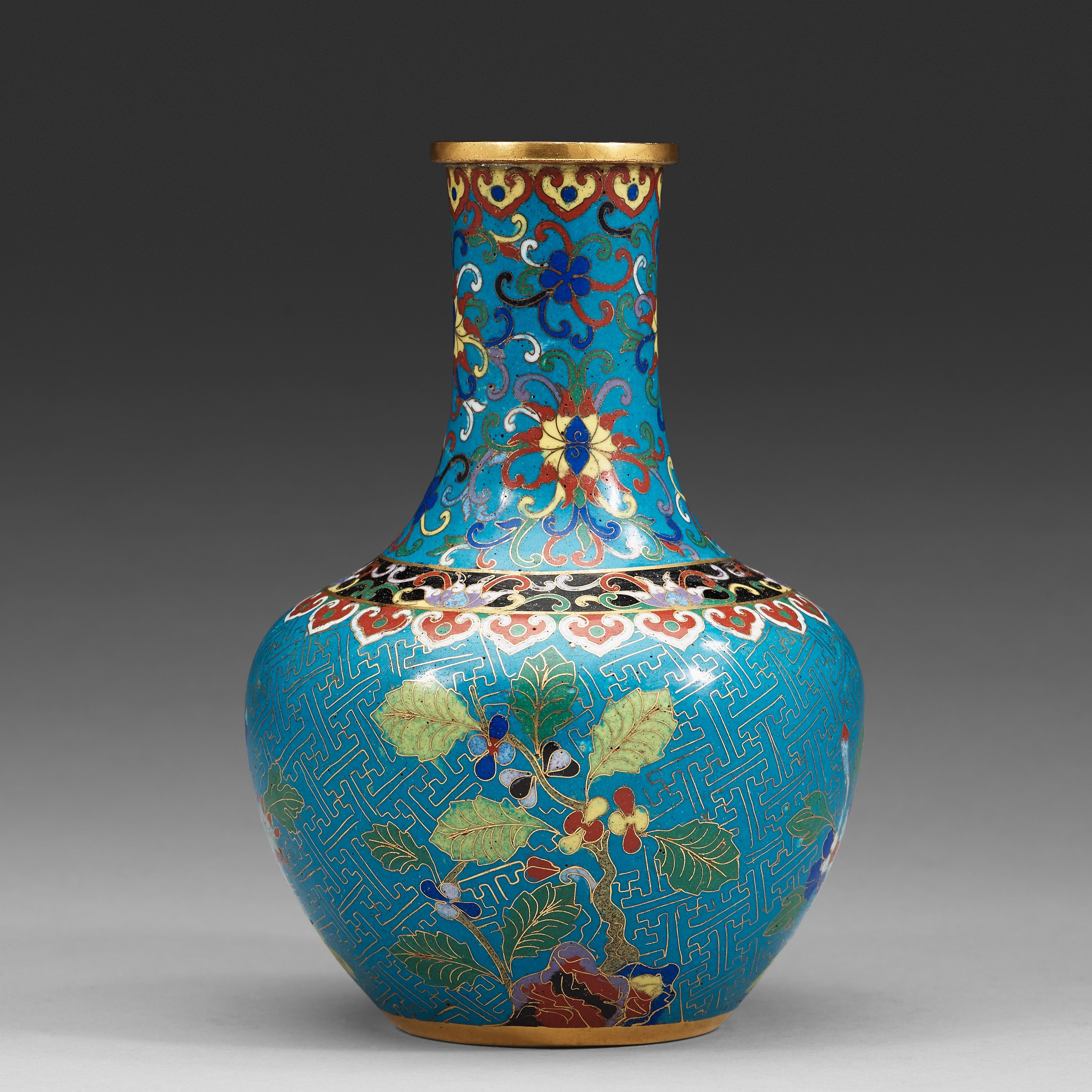 A Cloisonne Vase Qing Dynasty 19th Century