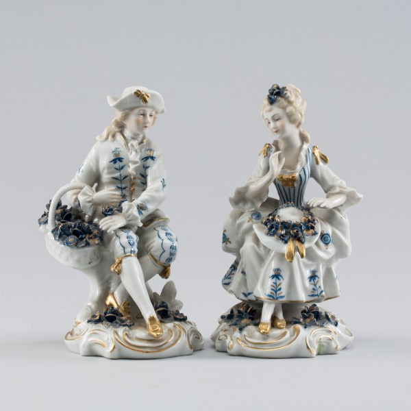Two 20th Century German Sitzendorf Porcelain Figurines