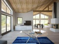 Modern House CH128 with vaulted ceiling and three bedrooms ...