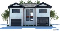 Modern House CH173 with large balcony. House Plan