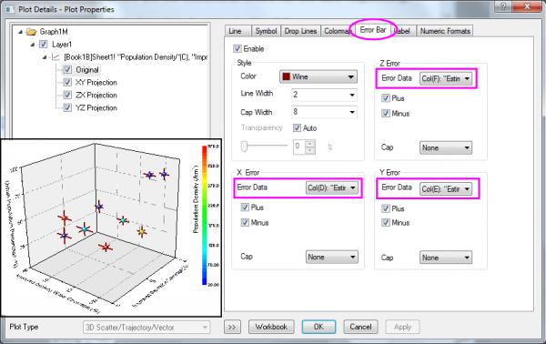 Adding error bars to your graph  also help online origin graph rh originlab