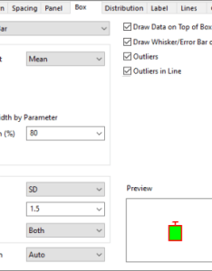 Customizing the box chart tab controls add  also help online origin plot details rh originlab
