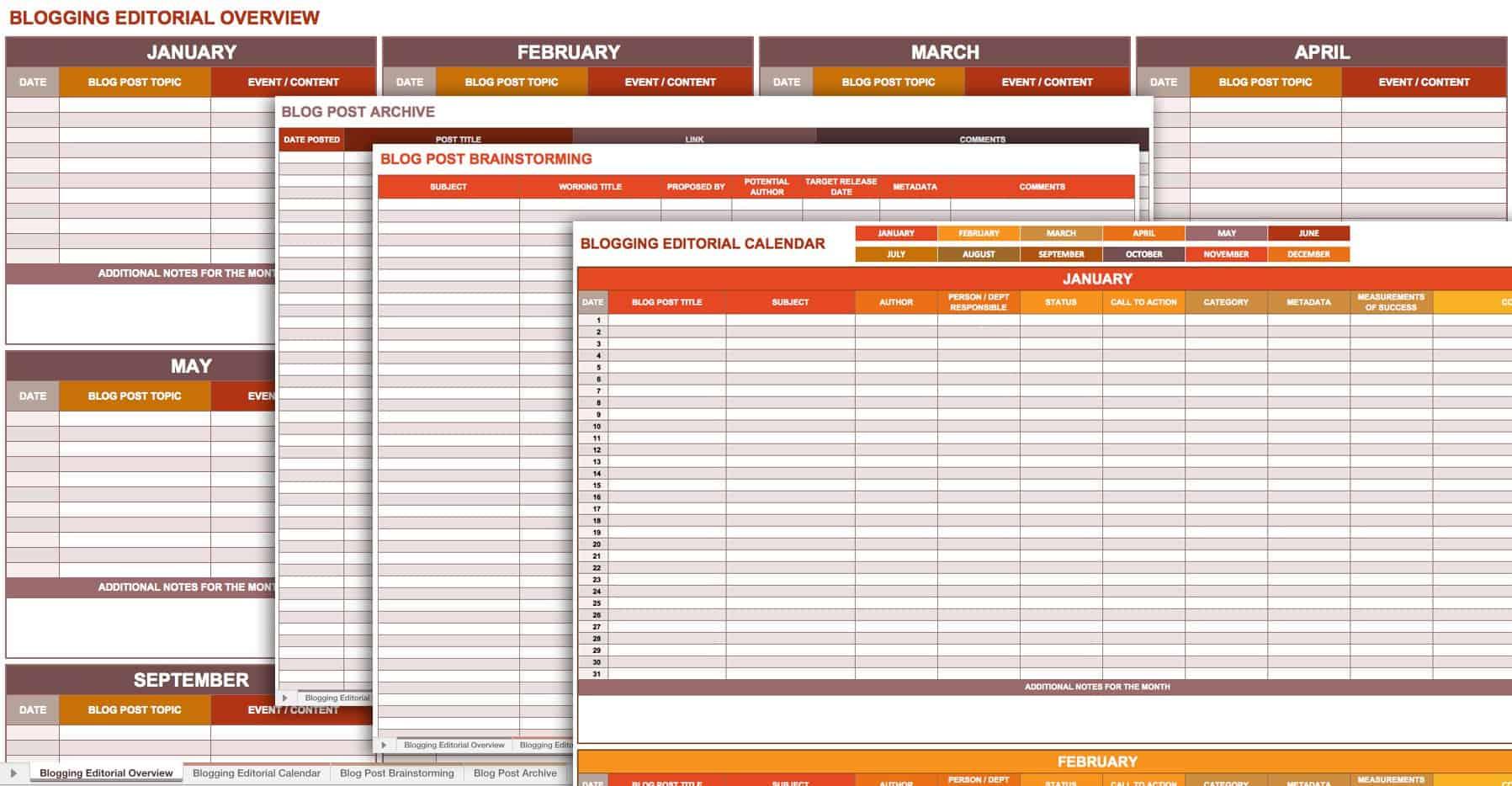 9 Free Marketing Calendar Templates For Excel
