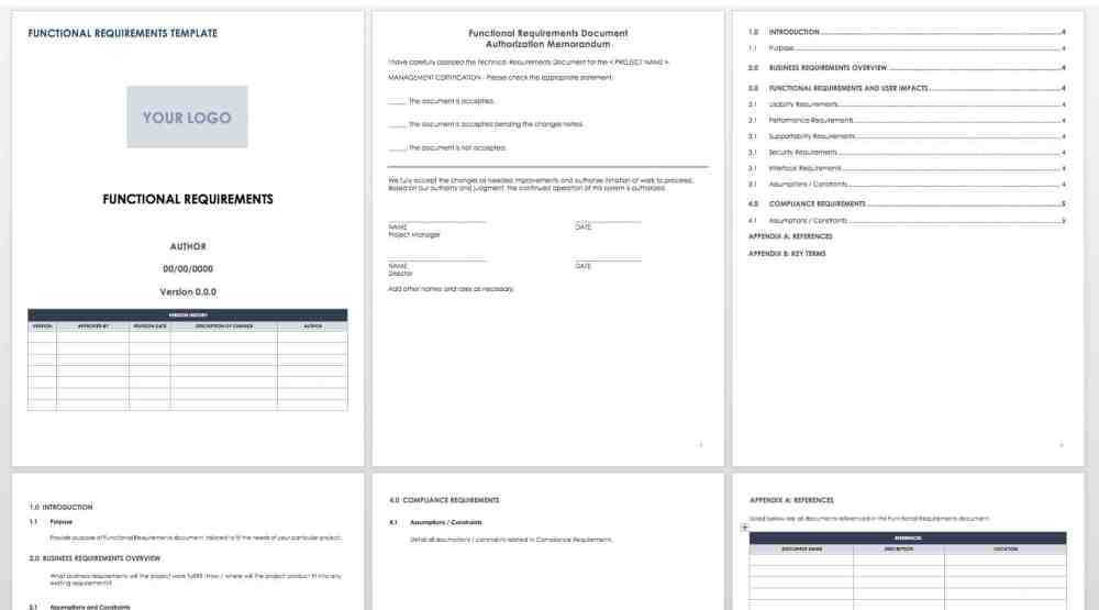 medium resolution of functional specifications templates for software