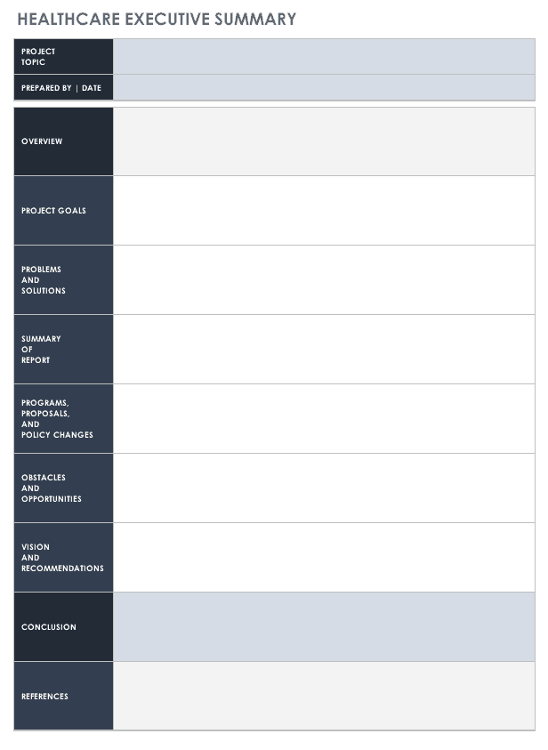 Free Executive Summary Templates Smartsheet