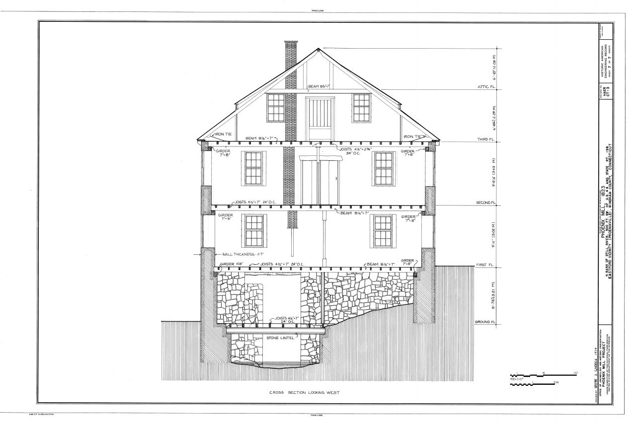 hight resolution of house cross section