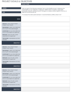 Project goals and objectives template also free goal setting tracking templates smartsheet rh