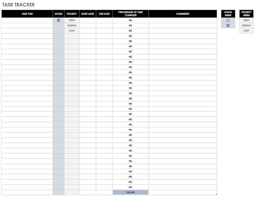 Task Completion Worksheet