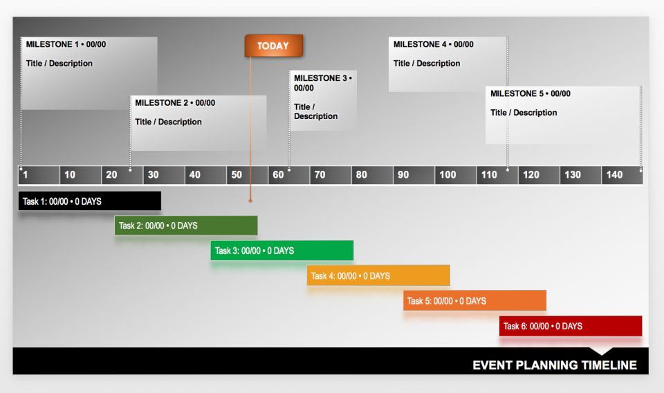 Event Planner Timeline Template
