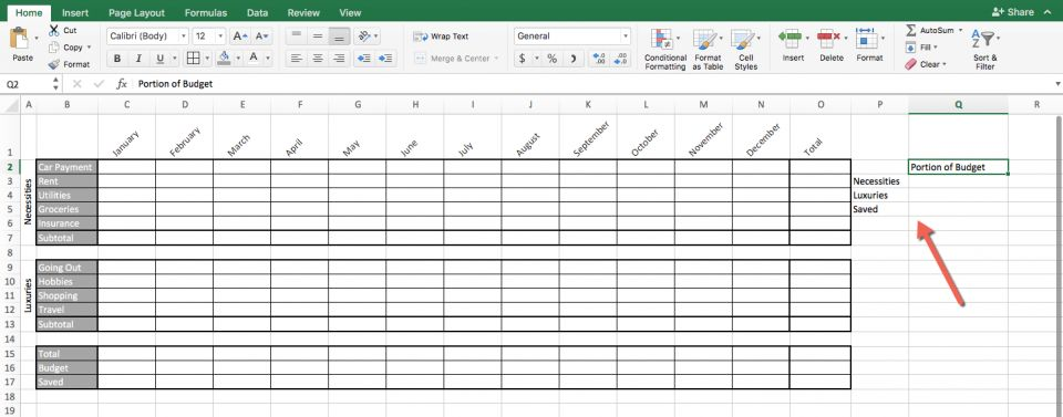 Use the side of your nicely formatted spreadsheet to create outlines  simple table which will contain main results also how make in excel word and google sheets smartsheet rh