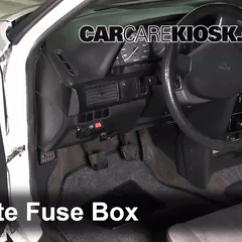 1991 Mazda Miata Fuse Box Diagram 1998 Toyota 4runner Factory Stereo Wiring Interior Location 1989 1995 323 Bg Series 1 3l 4 Cyl Check