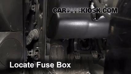 Cougar Fuse Box Diagram Interior Fuse Box Location 1992 1998 Volkswagen Golf