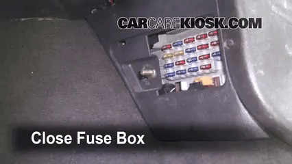 Interior Fuse Box Location 1993 1998 Jeep Grand Cherokee 2 Door Zj