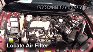 Air Filter HowTo: 20002005 Chevrolet Monte Carlo  2002