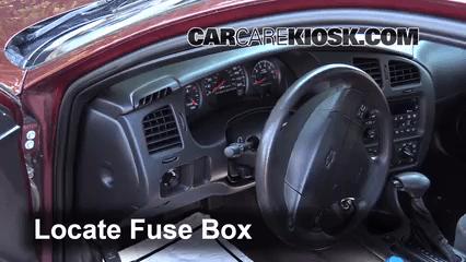 2000 2005 Chevrolet Monte Carlo Interior Fuse Check
