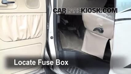 Fuse Box Interior Fuse Box Location 1990 2007 Ford E 150 Econoline