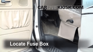Interior Fuse Box Location: 19902007 Ford E150 Econoline Club Wagon  2001 Ford E150