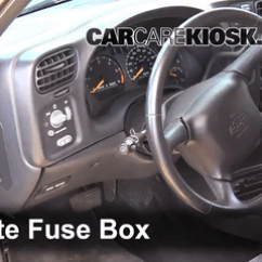 95 S10 Brake Light Switch Wiring Diagram 1998 Dodge Ram 2500 Trailer Interior Fuse Box Location 1994 2004 Chevrolet 1999 2 Remove Cover Locate And