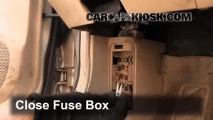 Interior Fuse Box Location: 19992003 Mazda Protege  2000 Mazda Protege LX 16L 4 Cyl