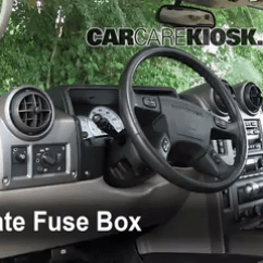 2005 F350 Fuse Panel Diagram Bmw E46 Trunk Wiring Interior Box Location 2003 2009 Hummer H2 6 0l V8