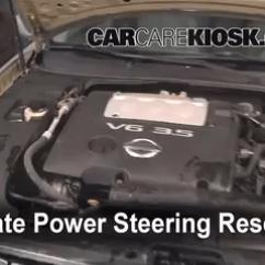 2007 Nissan Maxima Engine Diagram 2005 Kia Spectra5 Radio Wiring Fix Power Steering Leaks 2004 2008 5 Find Reservoir Locate The Fluid